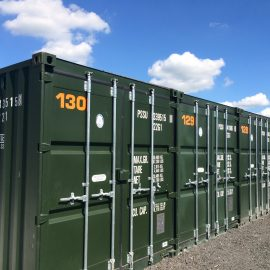 Self storage container bury